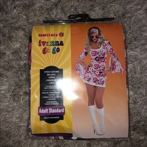 Groovy hippy costume one size NWT